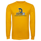 Gold Long Sleeve T Shirt-Track