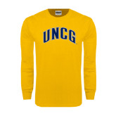 Gold Long Sleeve T Shirt-Arched UNCG