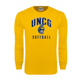Gold Long Sleeve T Shirt-Softball