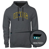 Contemporary Sofspun Charcoal Heather Hoodie-Arched UNCG