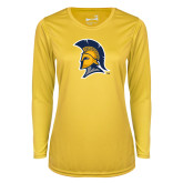 Ladies Syntrel Performance Gold Longsleeve Shirt-Spartan Logo