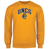 Gold Fleece Crew-Arched UNCG w/Spartan