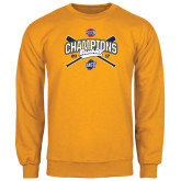 Gold Fleece Crew-Baseball SoCon Champions 2017 - Crossed Sticks