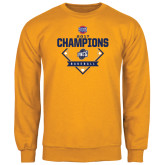 Gold Fleece Crew-Baseball SoCon Champions 2017 - Diamond