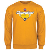 Gold Fleece Crew-Baseball SoCon Champions 2017 - Banner w/ Plate