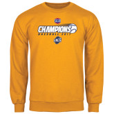 Gold Fleece Crew-Baseball SoCon Champions 2017 - Ball in Motion