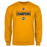 Gold Fleece Crew-2018 Mens Basketball Champions - Box