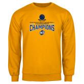 Gold Fleece Crew-2018 Mens Basketball Champions - Net w/ Basketball