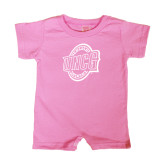 Bubble Gum Pink Infant Romper-UNCG Shield