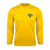 Syntrel Performance Gold Longsleeve Shirt-Arched UNCG w/Spartan