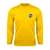 Syntrel Performance Gold Longsleeve Shirt-UNCG Shield