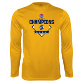 Performance Gold Longsleeve Shirt-Baseball SoCon Champions 2017 - Diamond