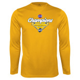 Syntrel Performance Gold Longsleeve Shirt-Baseball SoCon Champions 2017 - Banner w/ Plate