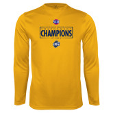 Performance Gold Longsleeve Shirt-2018 Mens Basketball Champions - Box