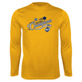 Performance Gold Longsleeve Shirt-2018 Softball Champions