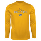 Performance Gold Longsleeve Shirt-2018 Mens Golf Champions