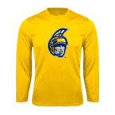 Performance Gold Longsleeve Shirt-Spartan Head