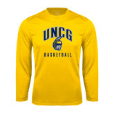 Performance Gold Longsleeve Shirt-Basketball