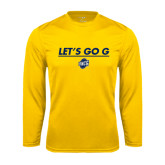 Performance Gold Longsleeve Shirt-Lets Go G