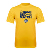 Performance Gold Tee-Game Set Match - Tennis Design