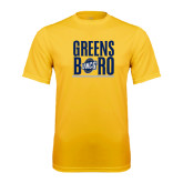 Performance Gold Tee-Greensboro Stacked with Shield