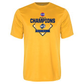 Performance Gold Tee-Baseball SoCon Champions 2017 - Diamond