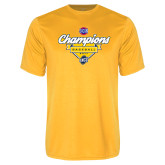 Performance Gold Tee-Baseball SoCon Champions 2017 - Banner w/ Plate