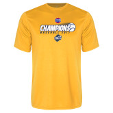 Performance Gold Tee-Baseball SoCon Champions 2017 - Ball in Motion