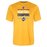 Syntrel Performance Gold Tee-2017 SoCon Regular Season Basketball Champions - Stacked