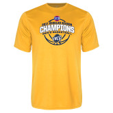 Syntrel Performance Gold Tee-2017 SoCon Regular Season Basketball Champions - Arched