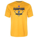 Performance Gold Tee-2017 SoCon Regular Season Softball Champions - Diamond