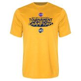 Performance Gold Tee-2018 Mens Basketball Champions - Brush
