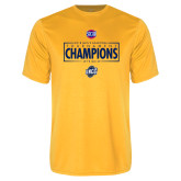 Performance Gold Tee-2018 Mens Basketball Champions - Box