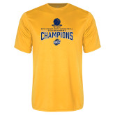Performance Gold Tee-2018 Mens Basketball Champions - Net w/ Basketball