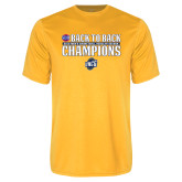 Performance Gold Tee-2018 Back to Back Regular Season Champions