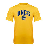 Performance Gold Tee-Arched UNCG w/Spartan