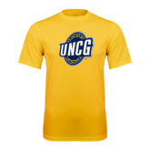 Syntrel Performance Gold Tee-UNCG Shield