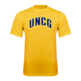 Performance Gold Tee-Arched UNCG