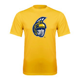 Performance Gold Tee-Spartan Head