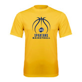 Performance Gold Tee-Stacked Basketball