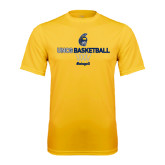 Performance Gold Tee-Basketball Net Design