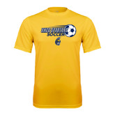 Performance Gold Tee-Soccer Ball Design