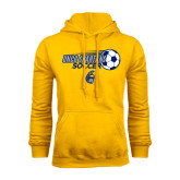 Gold Fleece Hoodie-Soccer Ball Design