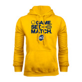 Gold Fleece Hoodie-Game Set Match - Tennis Design