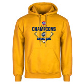 Gold Fleece Hoodie-Baseball SoCon Champions 2017 - Diamond