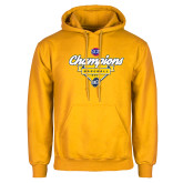 Gold Fleece Hoodie-Baseball SoCon Champions 2017 - Banner w/ Plate