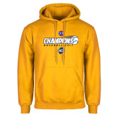 Gold Fleece Hoodie-Baseball SoCon Champions 2017 - Ball in Motion