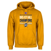Gold Fleece Hoodie-2017 SoCon Regular Season Basketball Champions - Stacked