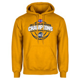 Gold Fleece Hoodie-2017 SoCon Regular Season Basketball Champions - Arched