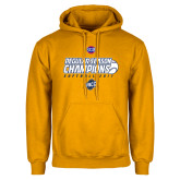 Gold Fleece Hoodie-2017 SoCon Regular Season Softball Champions - Ball